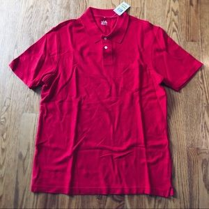 Nwt men's red polo top size medium